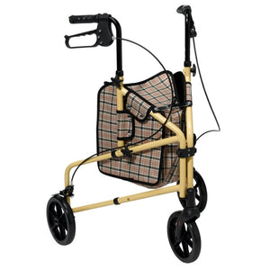 Drive Winnie Lite Supreme 3-Wheel Aluminum Rollator Walker (Yellow) RTL199