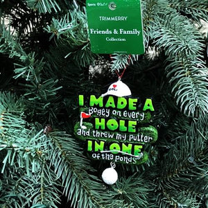 "Golf ""Hole in One"" Christmas Ornament (Friends & Family Collection) 20% to 80% Off at DollarFanatic.com America's Online Dollar Store"