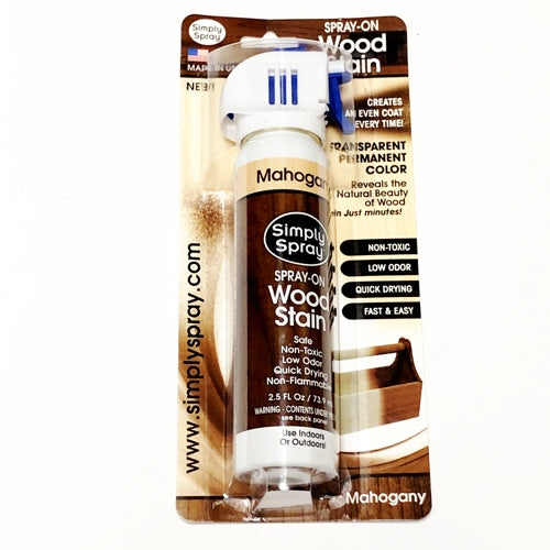 Simply Spray Spray-On Wood Stain (Mahogany) with Free Local Delivery in Champaign & Vermilion County IL.