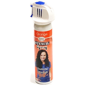 Simply Spray Orange Stencil Fabric Spray Paint (2.5 fl. oz.)