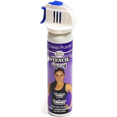 Simply Spray Purple Stencil Fabric Spray Paint (2.5 fl. oz.)