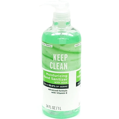 Keep Clean Moisturizing Hand Sanitizer Pump with Aloe & Vitamin E (34 fl. oz.)