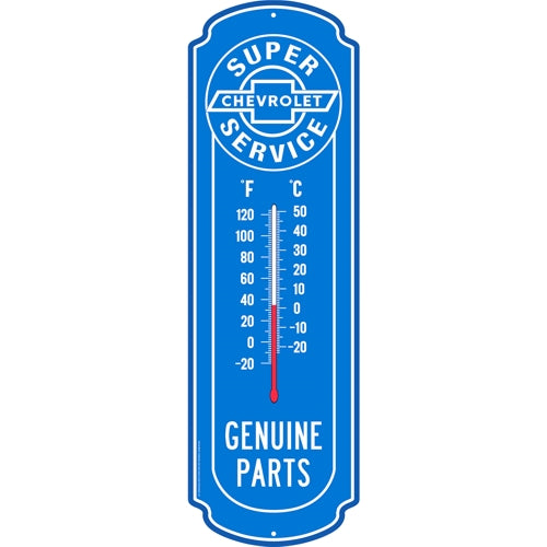 Chevrolet Super Service Glow-in-the-Dark Thermometer Metal Sign (27