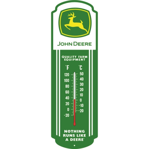 John Deer Glow-in-the-Dark Thermometer Metal Sign (27