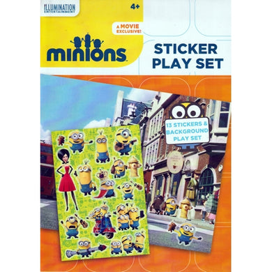 Minions Sticker Play Set (13 Repositional Stickers and Background Play Scene)