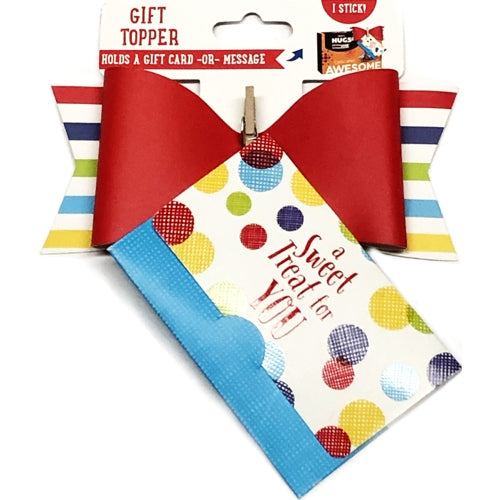 Sweet Treat Gift Topper Gift Card Holder (Holds Gift Card, Cash, Special Note)