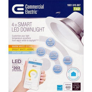 "4"" Smart LED Dimmable Downlight (Wink APP Compatible)"