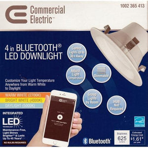 "4"" Bluetooth LED Dimmable Downlight (No Bulbs Required) with Free Local Delivery in Champaign & Vermilion County IL."