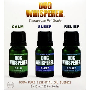 Dog Whisperer Therapeutic Pet Grade Essential Oil Blends (3 Pack)