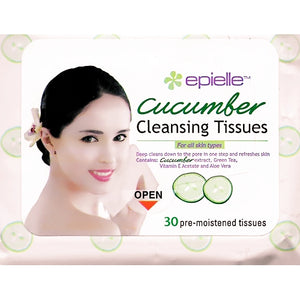 Cucumber Face Cleansing Wipes (30 Pre-moistened Tissues)
