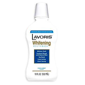 Lavoris Whitening Mouth Wash - Fresh Mint (Net wt. 18 oz.)