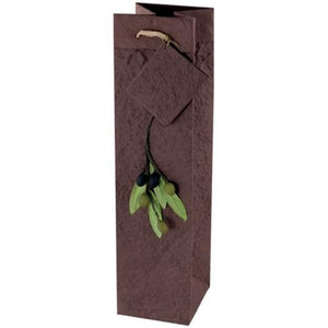 "Textured Mulberry Paper 14"" x 3.5"" x 3.5"" Bottle Gift Bag (Select Color) on Sale up to 80% Off at 5to99.com Daily Deals Dollar Store."