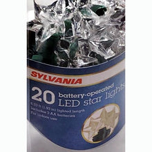 20 Warm White Battery-Operated LED Star String Lights (6.33 ft.)