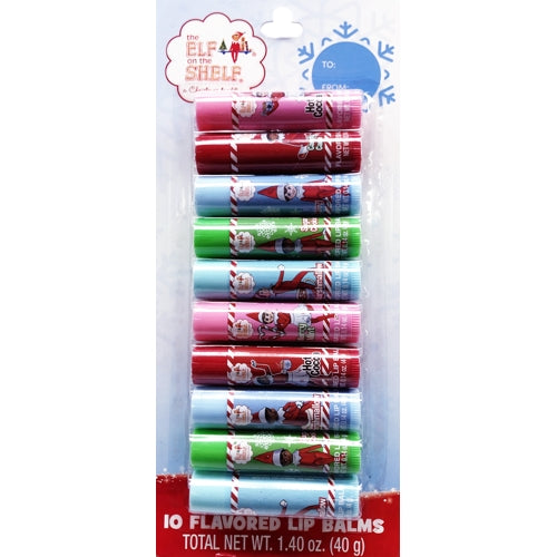 Elf on the Shelf Flavored Lip Balm Set (10 Pack)