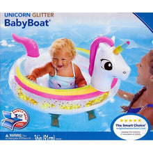 SwimSchool Unicorn Glitter BabyBoat Float (6 -18 months) Level 1 - Introducing Baby to Water