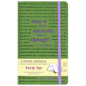 A Novel Journal - Peter Pan (192 Pages) The Journal Lines are the Novel