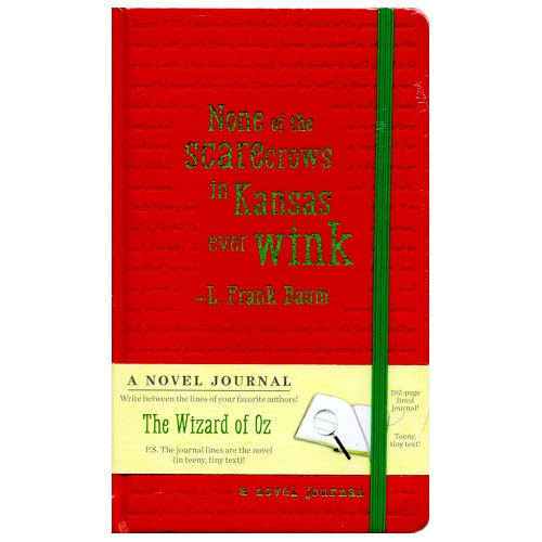 A Novel Journal - The Wizard of Oz (192 Pages) The Journal Lines are the Novel