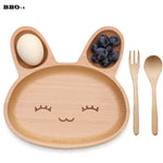 Rabbit wooden tray