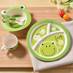 5 Pcs/Set Bamboo Fiber Children Tableware