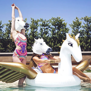 Inflatable Gold Pegasus Pool Floatie - gold pegasus inflatable pool float, adult floatie