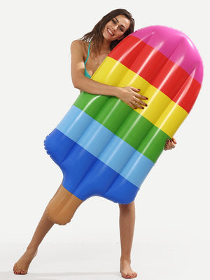 Inflatable Rainbow Popsicle Pool Floatie - rainbow popsicle inflatable pool float, adult floatie