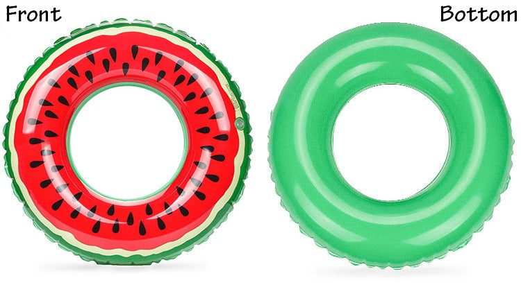 Inflatable Watermelon Ring Pool Floatie - inflatable watermelon slice pool float, adult floatie