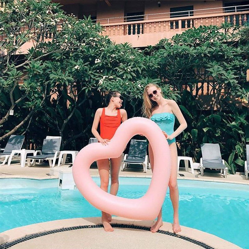 Inflatable Heart Pool Floatie - heart inflatable pool float, adult floatie
