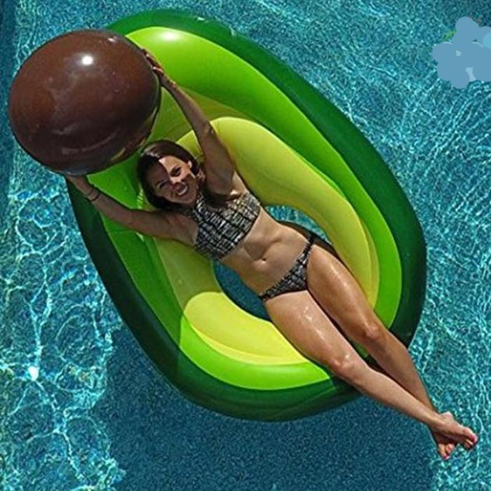 Inflatable Avocado Pool Floatie - inflatable avocado pool float, adult floatie