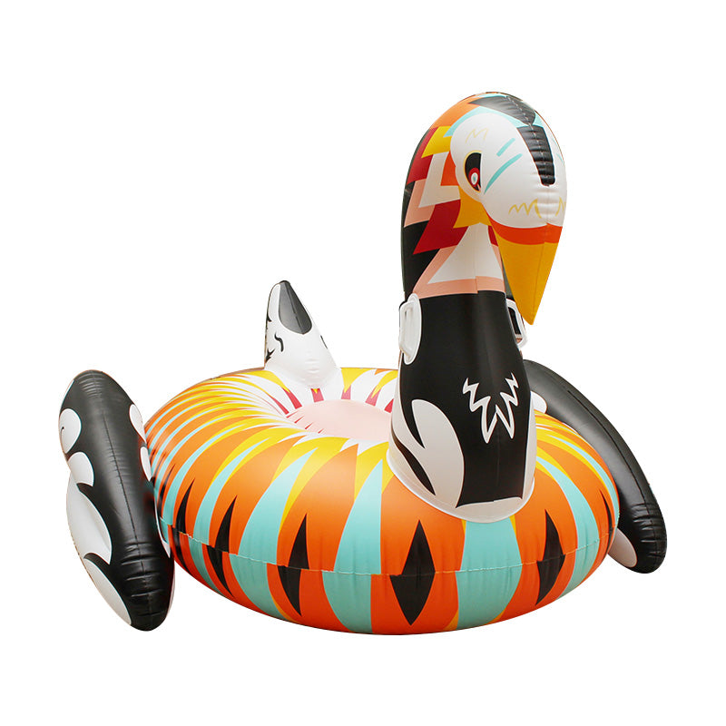 Inflatable Funky Swan Pool Floatie - funky swan inflatable pool float, adult floatie