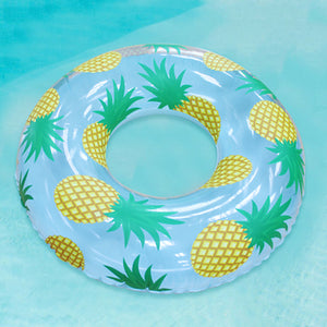 Inflatable Pineapple Ring Pool Floatie - inflatable pineapple ring pool float, adult floatie