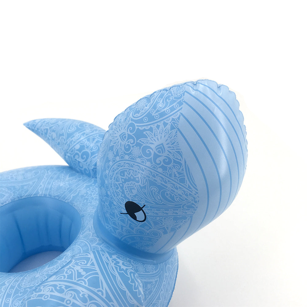 Floating Whale Drink Holder - inflatable whale floating drink holder