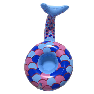 Floating Mermaid Tail Drink Holder - inflatable mermaid tail floating drink holder