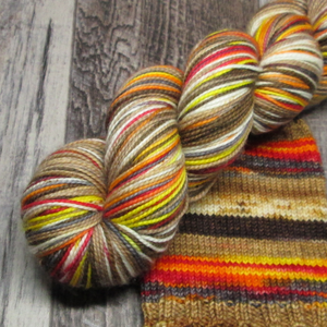 Campfire S'Mores, Jitterbug Fingering, Self Striping Sock Yarn