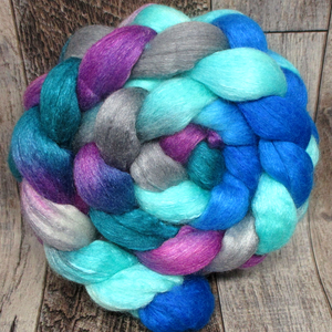 Eccentric Blueberry -- 75/25 Polwarth/Silk