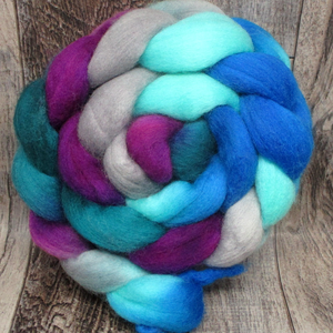 Eccentric Blueberry -- 100% Polwarth Wool, 4 oz