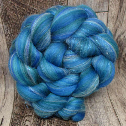 New Ocean, Custom Blended Combed Top, 4oz