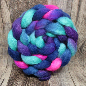 Space Flowers -- 75/25 BFL/Silk