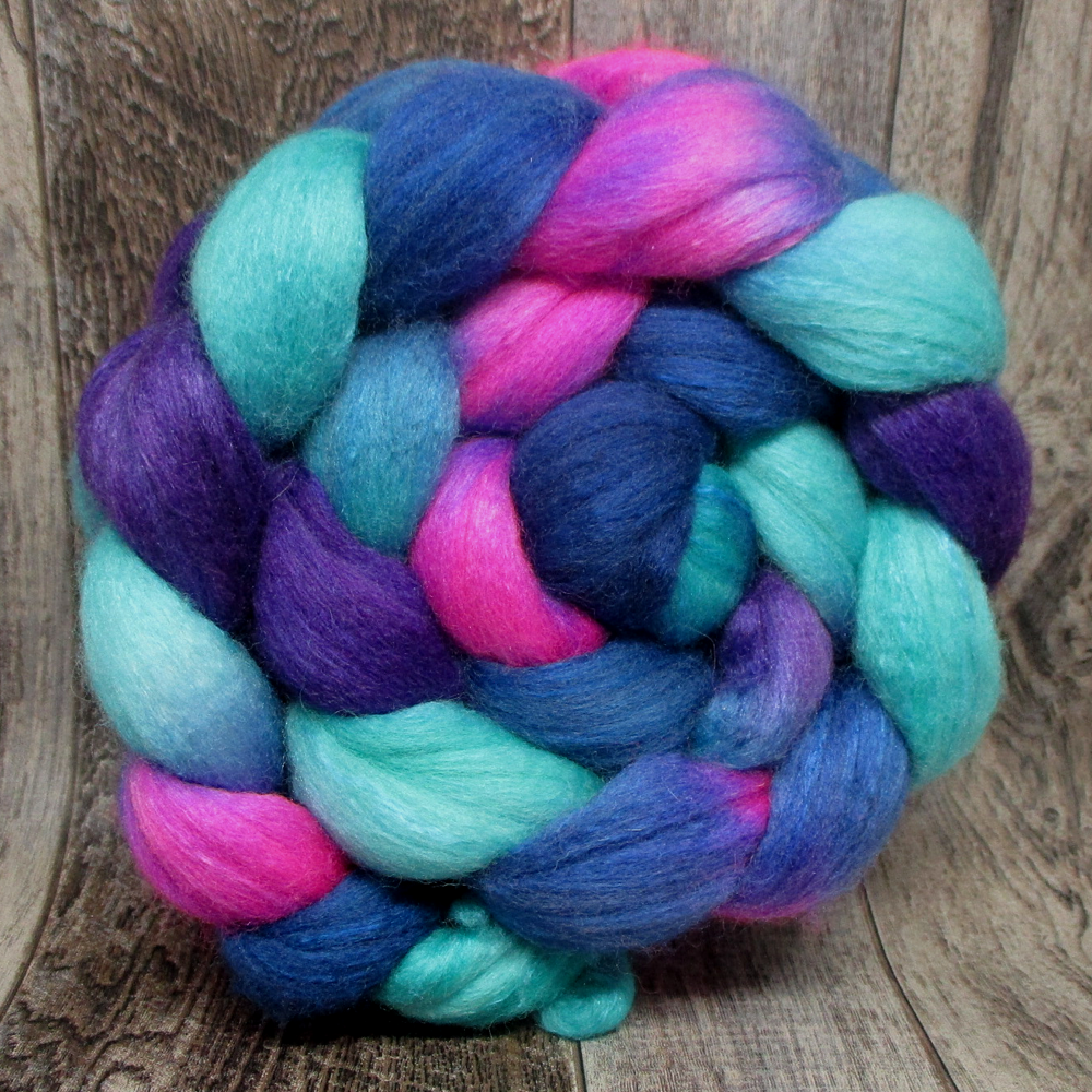 Space Flowers -- 75/25 Polwarth/Silk