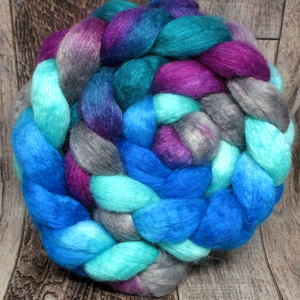 Eccentric Blueberry-- 75/25 BFL/Silk