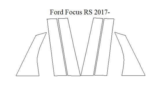 Ford Focus RS 2017 - Current - Black Pillar Kit - Ultra Shield