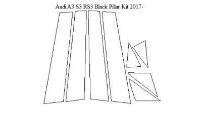 Audi A3/S3 Sportsback 2017-Current Black Pillar Kit - Ultra Shield
