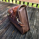 Handcrafted Leather Motorcycle Side Bags