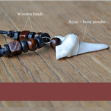 Handmade Bone-Wooden Unisex Necklace (4098300706870)