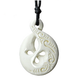 Maori Handmade Carved Bone Necklace (4098307096630)