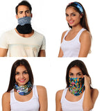 Neck Gaiter - Face Mask - Head Scarves - Headband - Blue Shells - Blue Bandana - Hair Scarf