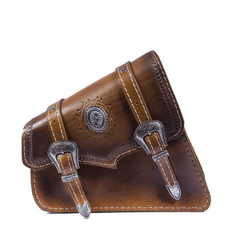 Handcrafted Vegetan Leather Motorcycle Side Bags motorcycle side bags Balance Headwear  (1914560643126)