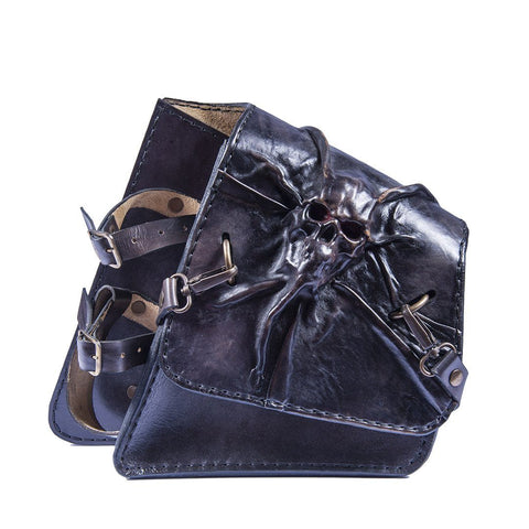 Handcrafted Vegetan Leather Motorcycle Side Bags motorcycle side bags Balance Headwear  (1914560708662)