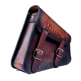 Handcrafted Vegetan Leather Motorcycle Side Bags motorcycle side bags Balance Headwear  (1914560905270)