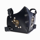 Steampunk Vegetan Leather Bikers Mask (1912376983606)