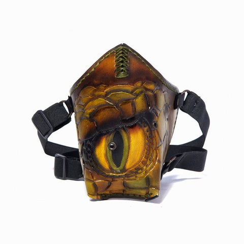 Hand Painted Vegetan Leather Bikers Mask Biker Mask The Ottoman Collection  (1912376557622)